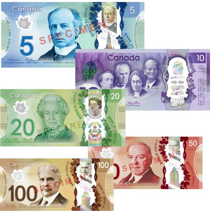 Canadian Bank Notes 2017