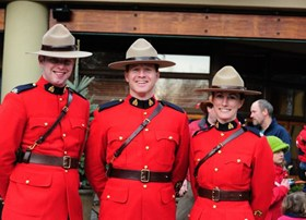 Royal Canadian Mounted Police regularly attend Whistler events.