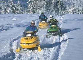 Whistler and area offers snowmobiliing trails. The Pemberton ice cap offers amazing riding.