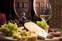 Wine And Cheese In Cellar