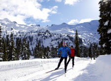 Cross-country skiing in the Callaghan Valley