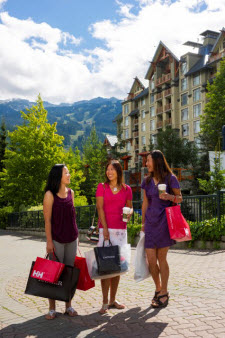 Shopping in Whistler Canada
