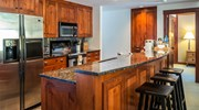 Kitchen - granite, steel furnishings, open-plan