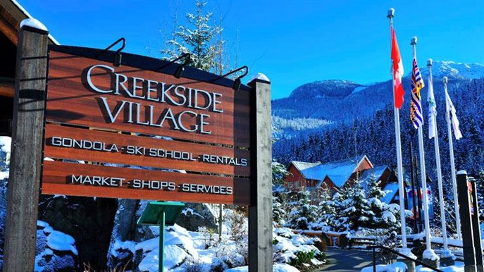 Whistler Creekside Welcome Sign