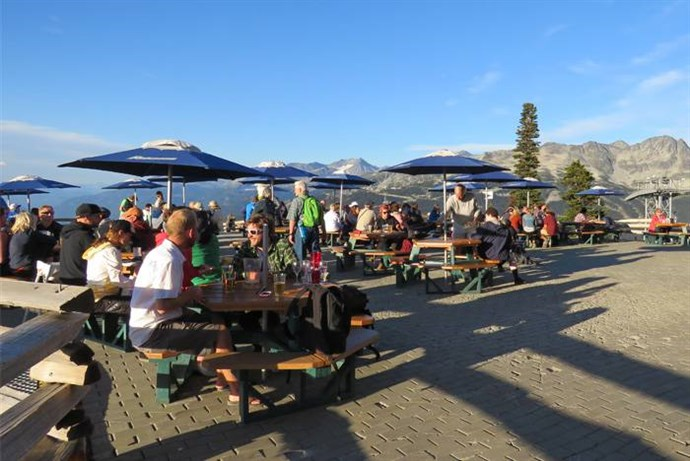 Whistler Mountain Top BBQ Diners