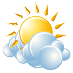 Clouds and sunshine with a shower around after temperatures rise above freezing; cold