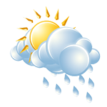 Sun and clouds with a shower around after temperatures rise above freezing; cold